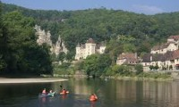 Canoeing at La Roque Gageac, Dordogne River