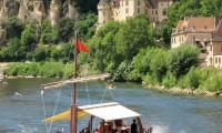 Gabares boat La Roque Gageac